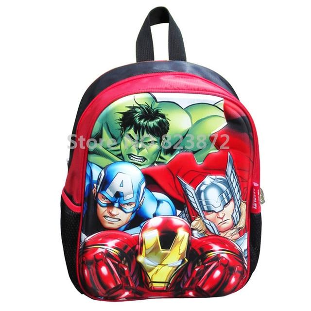 7a1bcb0c476abe 3D Avengers Backpack Children School Bags Kindergarten Preschool Backpacks  for Boys Iron Man Hulk Thor Kids