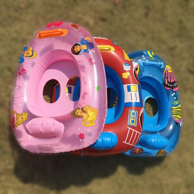 VILEAD agua juguetes para niños nadando anillos lactantes y niños boya anillos  bebé inflable barco 2 068b3a98d7a