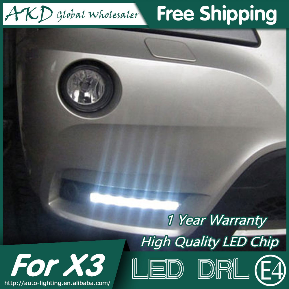 AKD Car Styling LED Fog Lamp for BMW X3 DRL 2010-2012 LED Daytime Running Light Fog Light Parking Signal Accessories tony moly ac control whitening toner