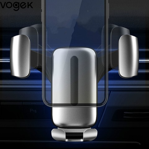 Vogek Gravity Car Holder Stand for iPhone Samsung Mobile Phone Holder Air Vent Mount Clip Aluminium Alloy Car Phone Holder Stand Pakistan