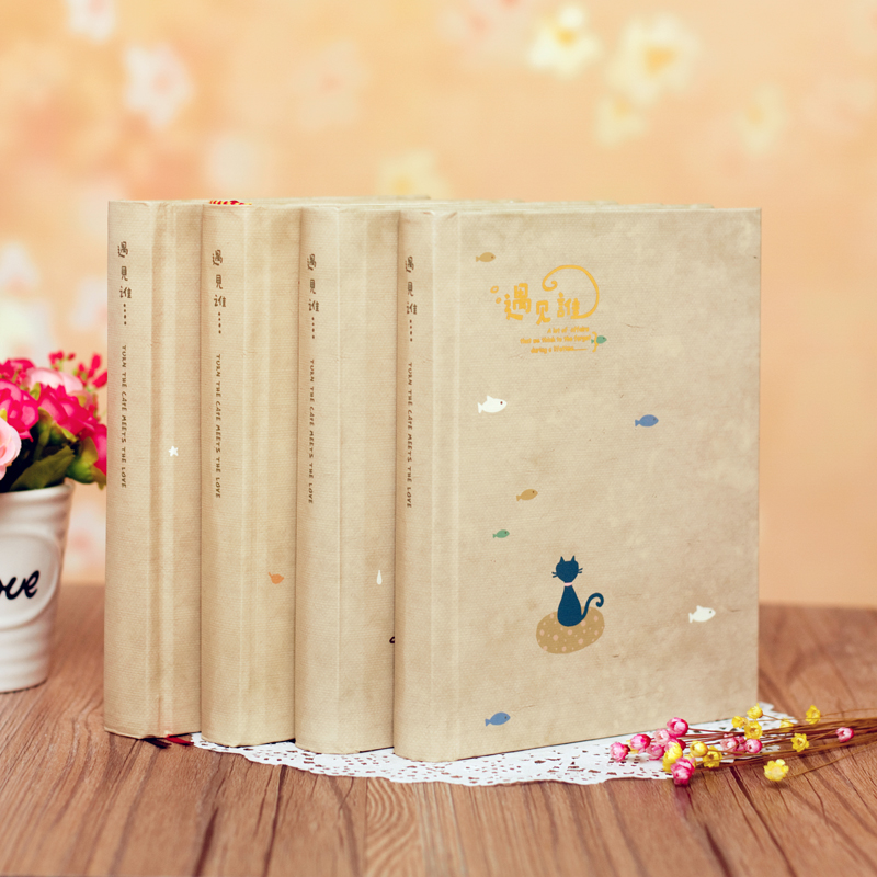 Japan and South Korea creative illustrations color mood notebook stationery European style lovely thick diary book creative pure and fresh japanese style notepad 32k blank notebook hand diary south korea