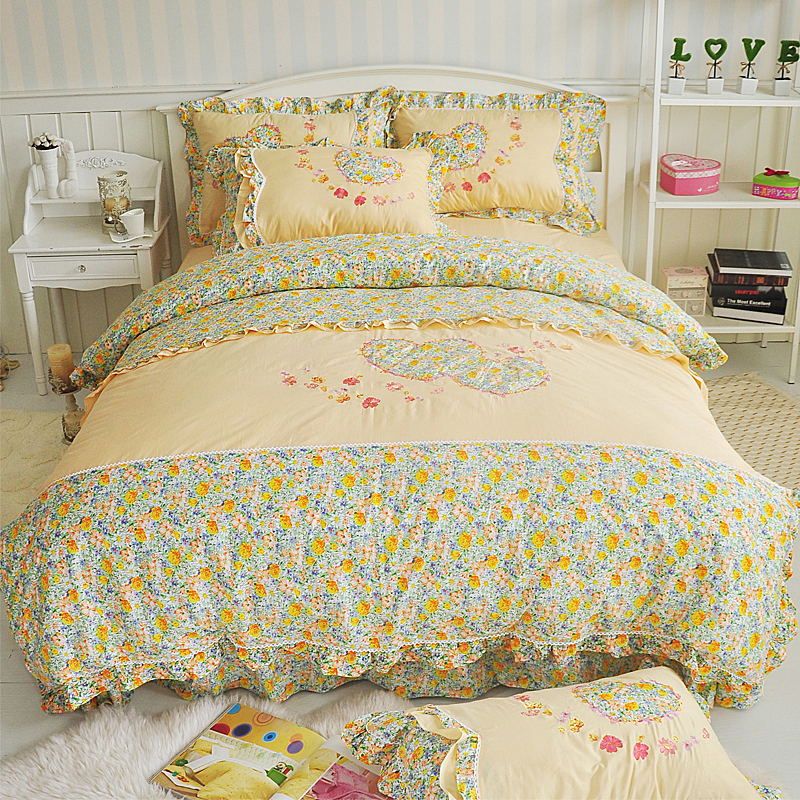 Micbridal Garden Style Chic Floral Duvet Cover Queen Soft 100