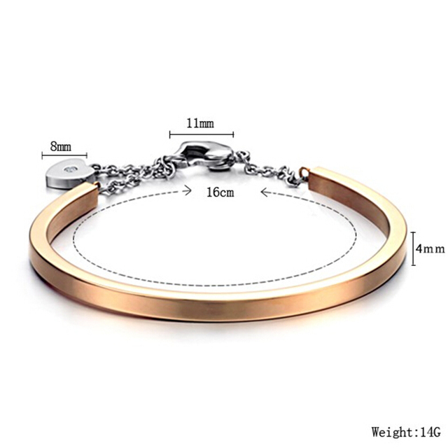 Factory Price Fashion Gold Color 316L Stainless Steel Bangels Bracelets for women 3