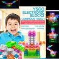 Toque controlado eletrônico blocos de construção de blocos DIY Kits circuito Integrado circuito de pressão modelo kits de Ciência crianças brinquedos