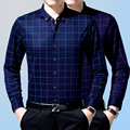 2016 Новый Плед Моды для Мужчин рубашки Тонкий Хлопок Длинный рукава Плюс Размер 3XL Мужчины Случайные Рубашки Camisa Деловых Людей рубашка