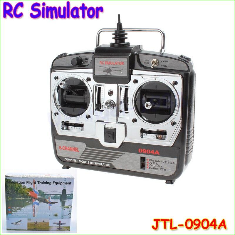 1 stücke 6CH RC Simulator JTL-0904A echt flug helicopter simulator mit CD disk im kleinkasten