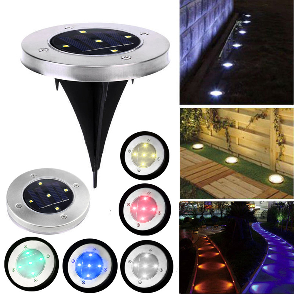 Solar LED Begraben lampen für Garten Rasen Yard 5 LED Solar Power Begraben Licht Boden Lampe Outdoor Pfad Weg Garten decking IP65