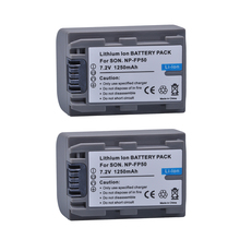 2Pc NP-FP50 NP FP50 NPFP50 Batteries for Sony NP-FP30 NP-FP50 NP-FP60 NP-FP70 NP-FP71 NP-FP90 Sony DCR-SX40 SX40R SX41 HDR-CX105