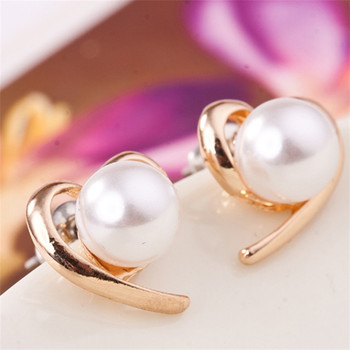 E0150 mignon Style perle boucles d'oreilles pêche coeur amour coeur boucles d'oreilles pour les femmes de mode fête de mariage bijoux en gros