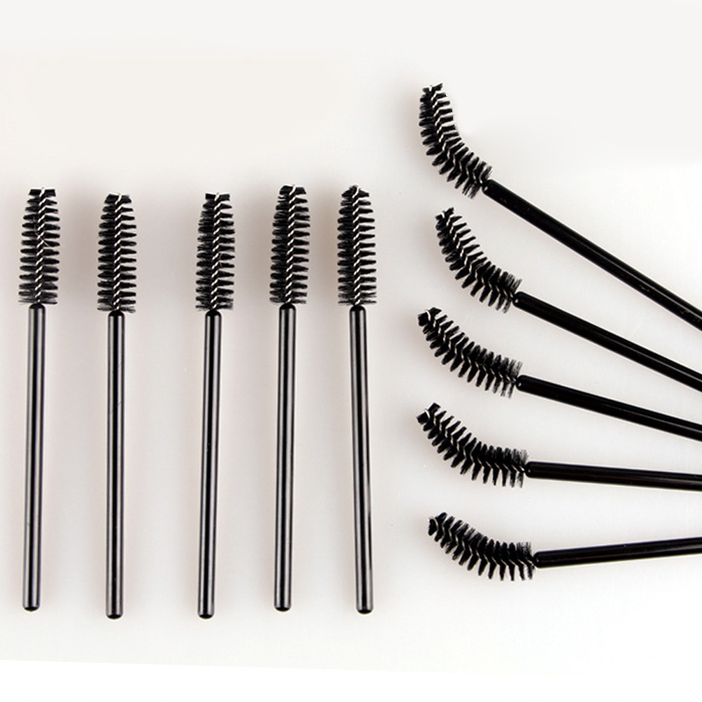500/100pcs make up brush synthetic fiber Disposable Eyelash Brush Mascara Applicator Wand Brush Can be bent Cosmetic Makeup Tool