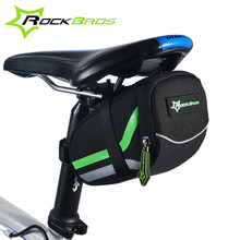 Rockbros MTB Road Bike Bag Bicycle Tail Seatpost Bag Cycling Rear Saddle Tools Pouch With Reflector Strips Bicycle Accessories
