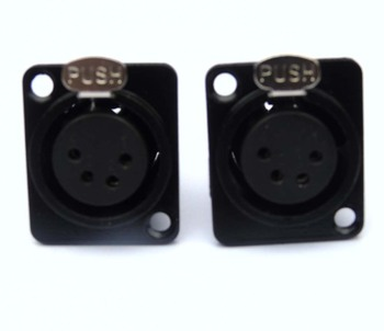 high quailty 100pcs / lot XLR 4-Pin Female Chassis Panel Socket Connector,XF4