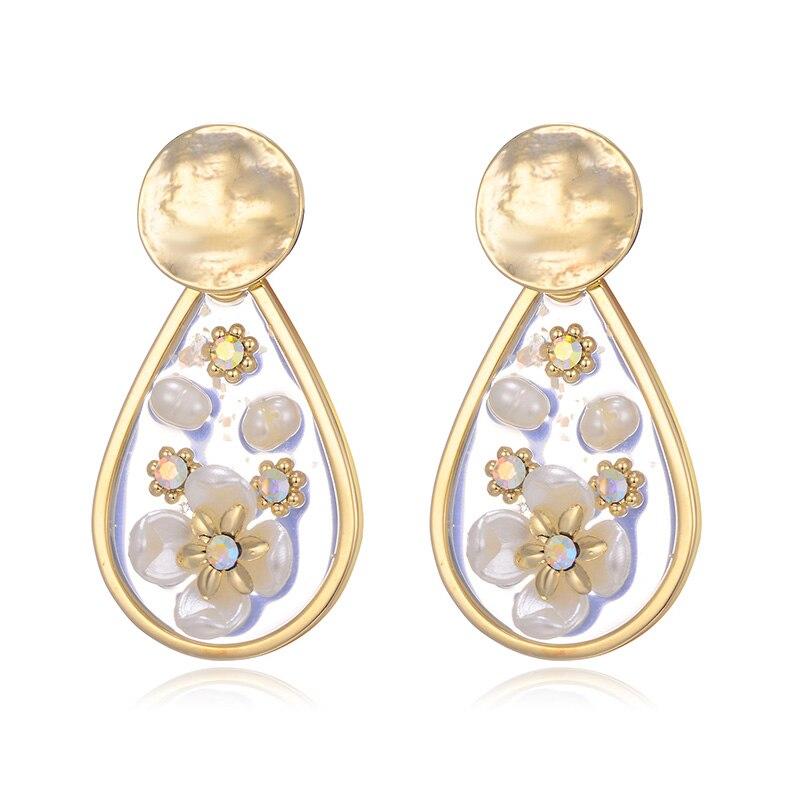 Hongye Teardrop Shape Drop Earrings for Women Best Seller Colorful Pearl Brinco Big Dangler Created Ear Jewelry Hanging Earrings in Earrings from Jewelry Accessories