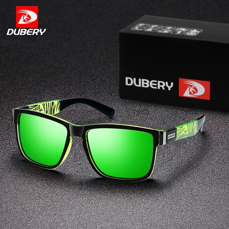 DUBERY Plaza polarizado Gafas de sol Hombres estilo de deportes Gafas de sol HD conducción Gafas Polaroid lente Gafas de hombre Gafas de sol de R8881