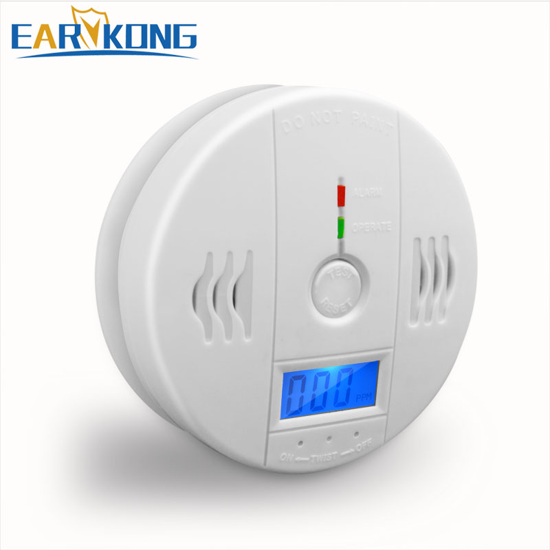 Fire Protection Yobang Security Carbon Monoxide Detector Gas Alarm Sensor Poisoning Smoke Tester Human Voice Warning Detector For Alarm System Clearance Price Carbon Monoxide Detectors