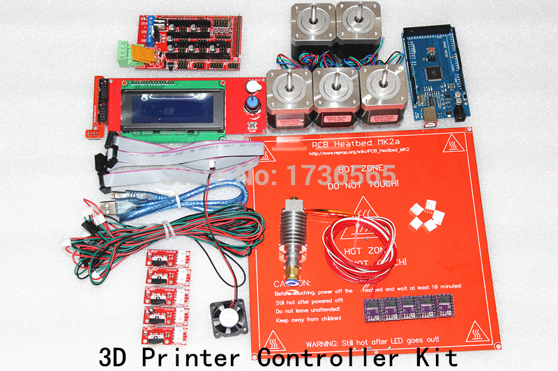 DRV8825 +Ramps 1.4 + Mega2560 R3 + Hot end 3D Printer Controller Kit For RepRap KIT054 elecfreaks 3d printer ramps reprap exaltation kit