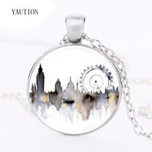 NEW Drama Sherlock Painted London Necklace Art Pendant Steampunk High Quality necklace new chain jewelry gift women necklaces(China)