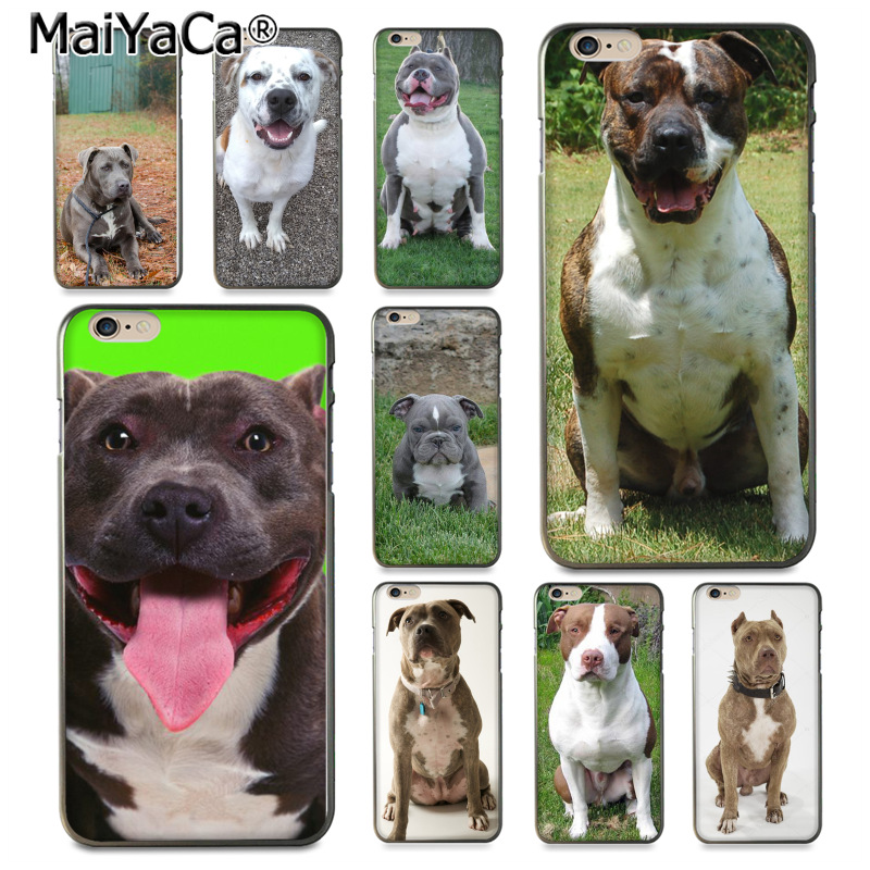 MaiYaCa Pitbull Bulldog dog Multi Colors Luxury phone case for iPhone 8 7 6 6S Plus X 10 5 5S SE 5C Coque Shell
