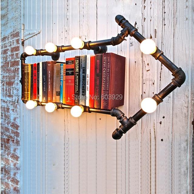 loft industrial pipe arts creative retro plumbing fixtures wall ...