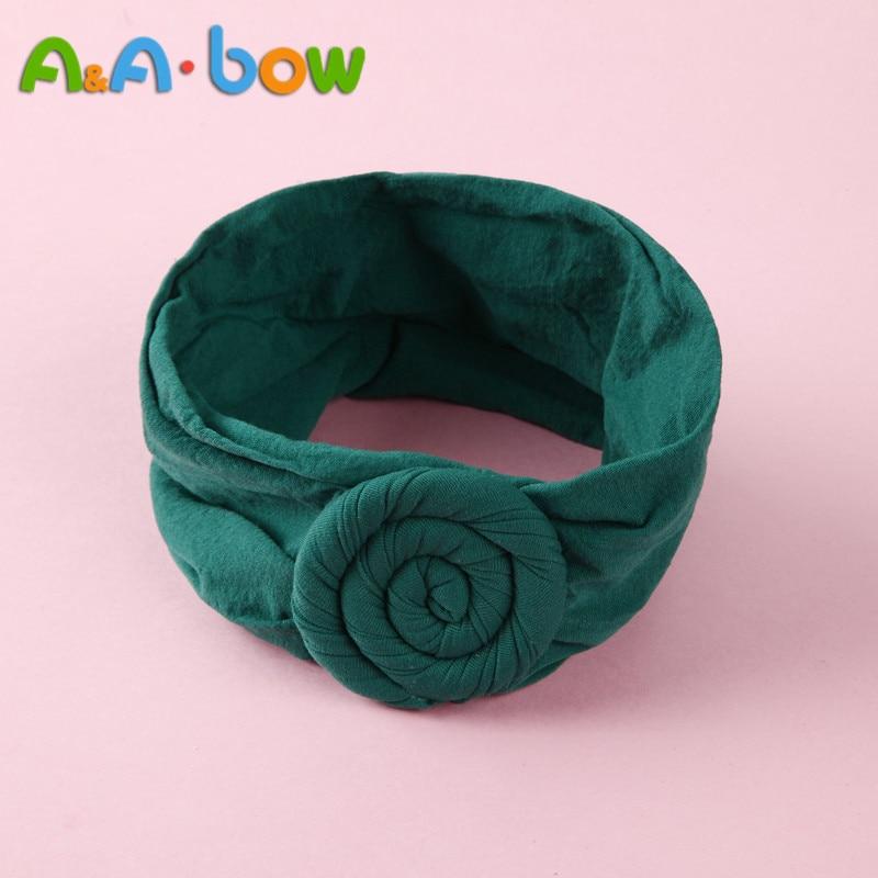 1pcs Wide Nylon Bow Headband With Rose Flower, Soft Elestic Wide Head Wraps, Cute Nylon Turban Headband Girls Hair Accessories