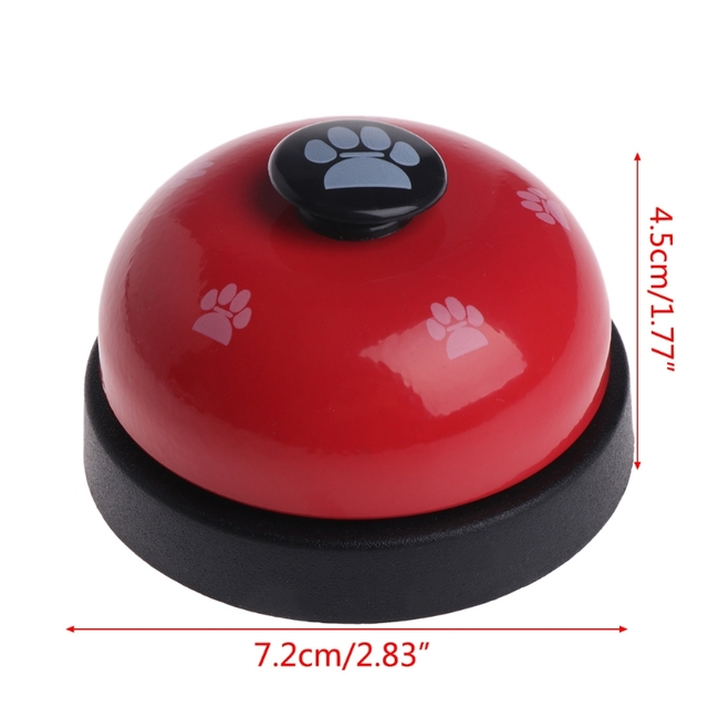 Pet Training Bell Dogs Footprint Puppy Cats Dinner Feeding Door Ring Interactive 4