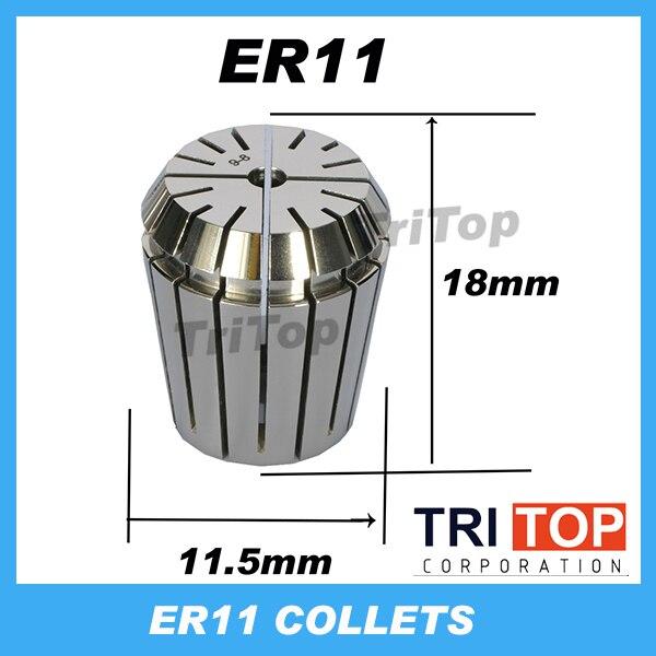 Alta Precisión ER11 0.005mm primavera Collet de CNC Ordeñadoras grabado Tornos herramienta envío gratis