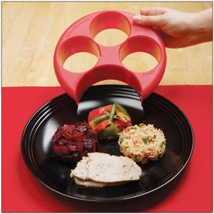 EH-LIFE Red Meal Portion Diet Naturalize Control Plate
