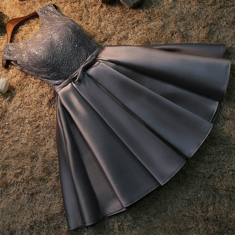 Robe de soiree 2019 korte kant plus size lace up avondjurk vestido de - Jurken voor bijzondere gelegenheden - Foto 2