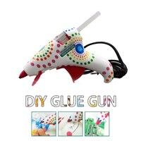 Fashion Design Cute Mini High Temp Heater Glue Gun With 2 Glue Sticks For Ladies And
