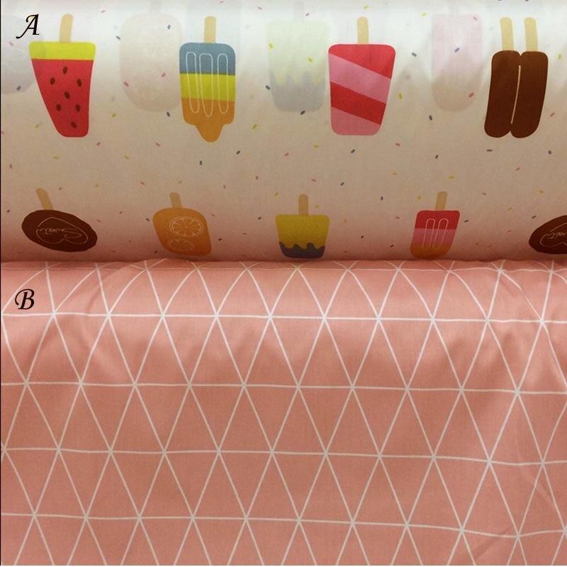 100% Cotton twill new icecream popsicle Diamond lattice cloth Fabric for kid bedding sheet handwork tela quilting tent patchwork