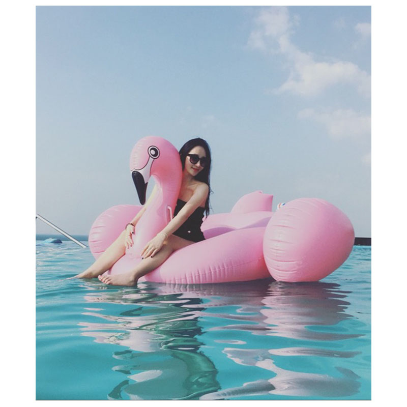 1.9M Hot Giant Pool Swimming Inflatable Flamingo Float Air Mattress Floating Row Swim Rings Summer Water Fun Pool Toys