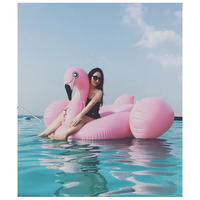 1.9 * 1.9M Hot Giant Pool Swimming Inflatable Flamingo Float Air Matters Floating Row Swim Rings Summer Water Fun Pool Toys