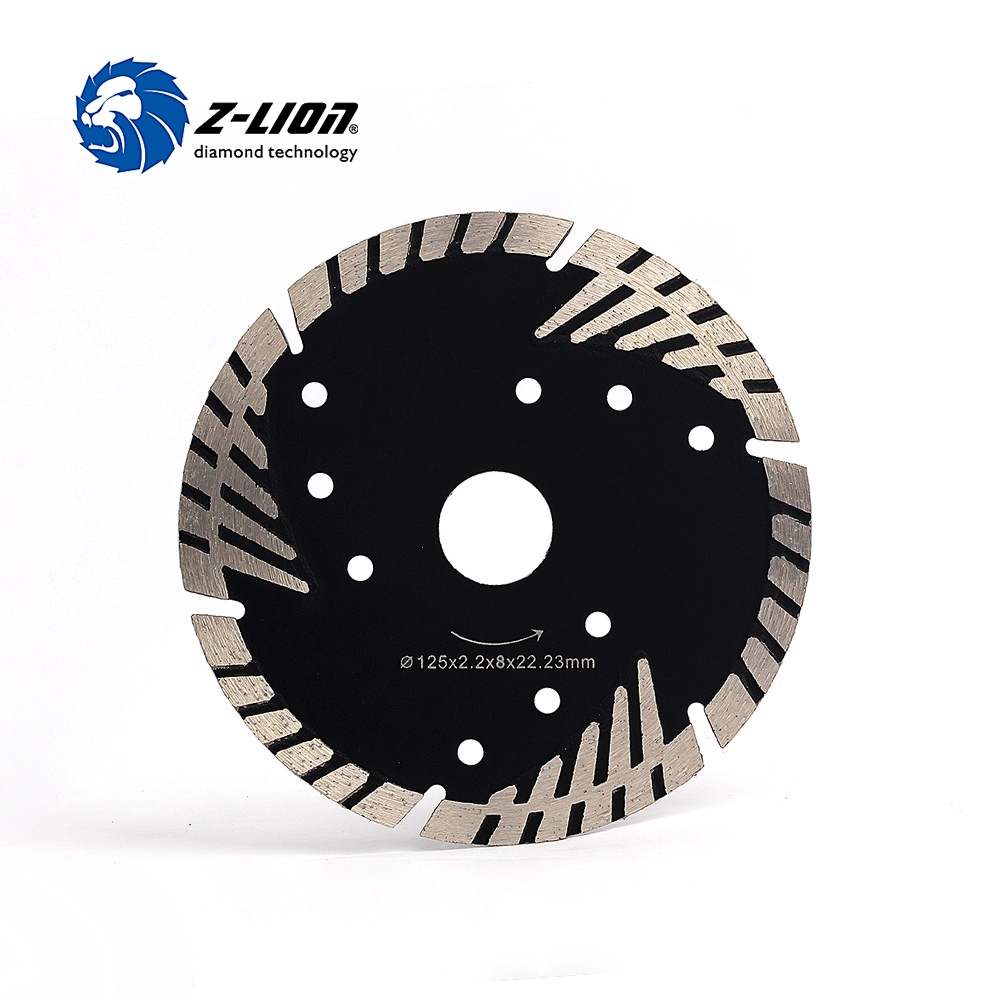Z-LION 5 125mm Diamond Saw Blade Granite Stone Cutting Segmented Turbo Teeth Slant Protection Concrete Cutting Disc 12 72 teeth 300mm carbide tipped saw blade with silencer holes for cutting melamine faced chipboard free shipping g teeth