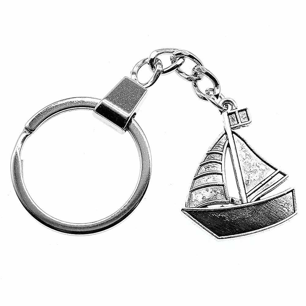 Sailboat Keychain Wedding Souvenirs Key Holder Wedding Favors and Gifts for Guest Party Favors Festive Party Supplies YB10876