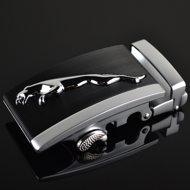 Fashion Men's Business Alloy Automatic Buckle Unique Men Plaque Belt Buckles For3.5cm Ratchet Men Apparel Accessories LY125-0182
