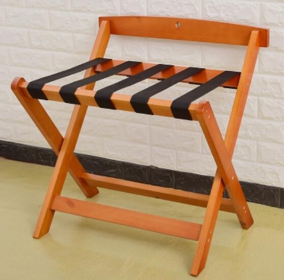 Многоцелевой твердой древесины складной гостиничная багажная полка багажная вешалка для хранения домашнего товара Полка багаж