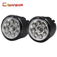 Cawanerl 1 Pair Car Left Right Fog Light LED Light Daytime Running Light DRL DC 12V