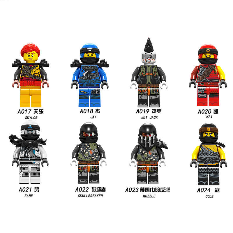 1pcs Nya Lloyd Cole Jay Kai Zane Ninja Mini Figuras de ação Building Blocks Crianças Brinquedo Dom Compatível Legoingly Ninjagoed para As Crianças