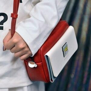 Image 5 - Kiitos ライフ四角い PU 女性のクロスボディバッグコントラスト色で遭遇シリーズオリジナル設計された 4 スタイル (楽しい観測点)