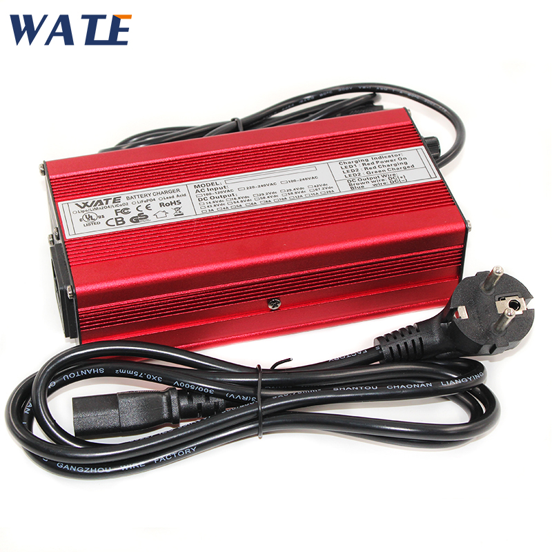 42V 5A lithium battery charger 36V 5A aluminum case charger For 10S 36V Lipo LiMn2O4 LiCoO2