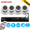 SUNCHAN 4CH HD CCTV Security Camera System 4 2 0MP SONY CCD 1080P Indoor Home Video
