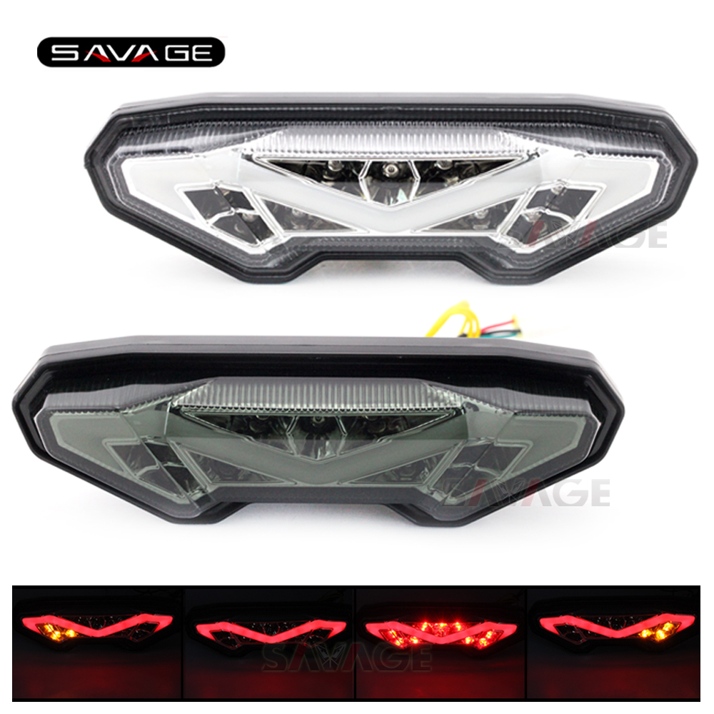 Integrated LED Tail Light For YAMAHA MT 09 MT09 Tracer FZ-09 FJ-09 MT10 MT 10 FZ-10 Motorcycle Accessories Turn signal Assembly стоимость