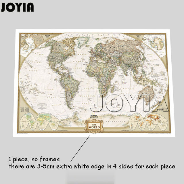 Online Shop World Map Painting Canvas Prints Large Wall Art Europe - Extra large framed world map