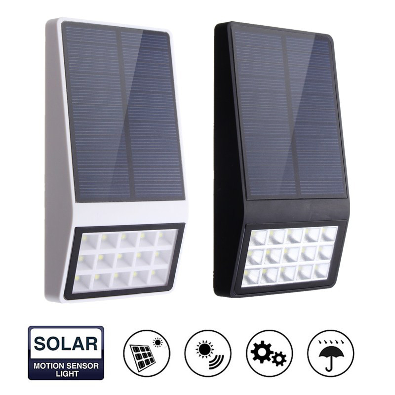 Waterproof Light Sensor Solar Powered 15 LED Solar Light induction Outdoor LED Garden Light Emergency Wall Lamp
