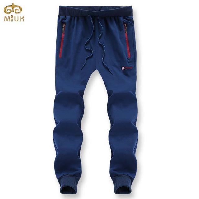 Miuk 2017 11.11new tamanho grande marca de algodão homens calças xl ~ 8xl roupa preta cinza azul reta calças pantalones hombre moletom