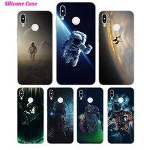 Silicone Case Spaceman Astronaut for Huawei P Smart 2019 Plus P30 P20 P10 P9 P8 Lite Mate 20 10 Pro Nova 3i Cover