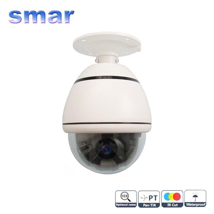 CCTV Security 4 Inch Indoor/Outdoor Mini Speed Dome Sony CCD 480TVL  10X Optical Zoom PTZ Camera Free Shipping security cctv network speed dome 4 inch mini ptz 1 3mp 960p outdoor ip camera 10x zoom