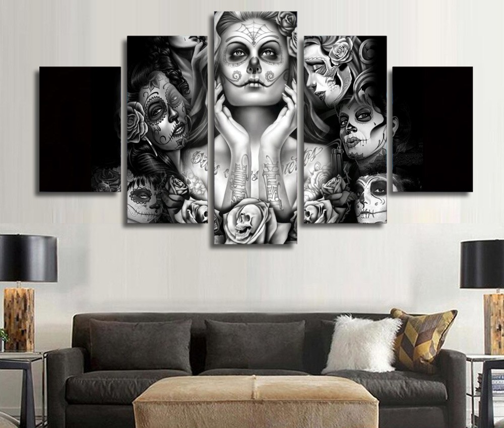 5 Piece Canvas Art Posters And Prints Movie Star Canvas Oil Painting Pictures Wall Art Modrn Prints Home Decor Framed