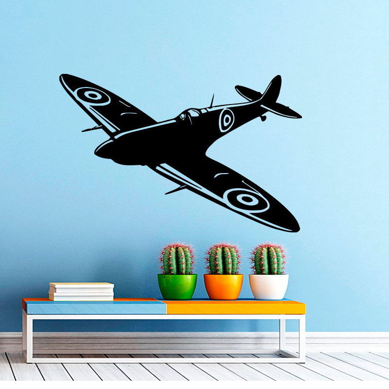 Home Decor Home & Garden Creative Spitfire Dragon Wall Sticker Childrens Room Art Applique Living Room Bedroom Home Decoration Diy Wallpaper Jg1704