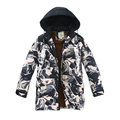 Children's wear new winter fashion leisure cuhk children's 2016 letters long thickening camouflage charge warm cotton-padded